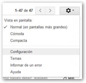 Gmail konfiguratzeko gurpiltxoa