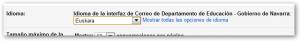 Gmail hizkuntza