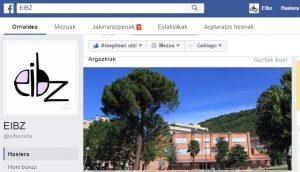 EIBZren Facebook-eko orria