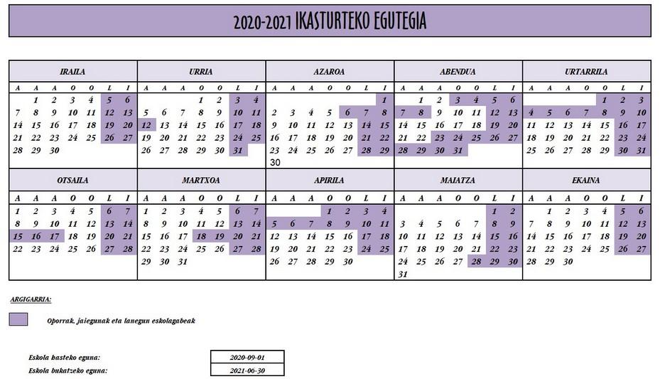 2020-2021 egutegia
